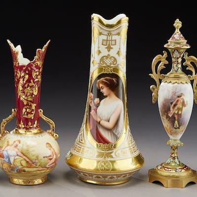 (5) German porcelain items