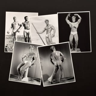 5 Bruce Bellas Nude Male Model Photos & Ephemera - Bruce Bellas (1909-1974)