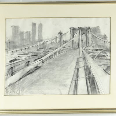 Thomas Loepp, Brooklyn Bridge drawing