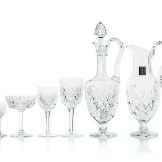 """A set of Saint Louis """"Chantilly"""" stemware"""