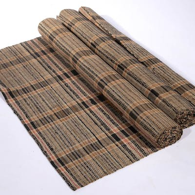 SHENANDOAH VALLEY OF VIRGINIA WOVEN RAG RUNNERS AND RUG, SET OF THREE