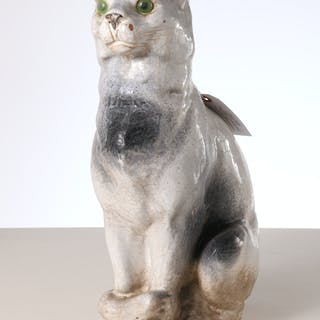 Antique French Terracotta roof cat