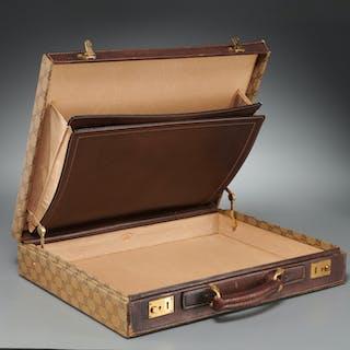 Vintage Gucci monogram hardshell briefcase