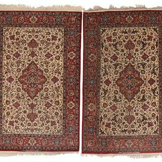A pair of Asfahan rugs