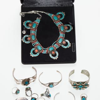 Selection of Jewelry, Mostly Silver