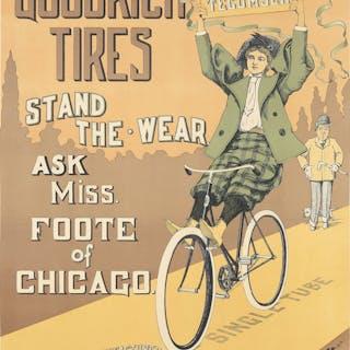Goodrich Tires / Miss Foote. ca. 1895.