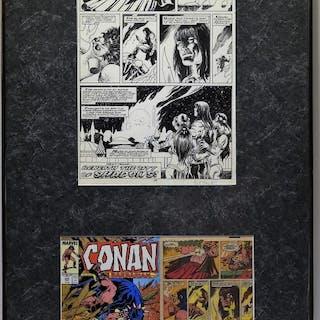 Val Semeiks Alfredo Alcala Conan #216 Original Art