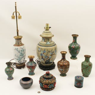 10 PC. LOT OF CLOISONNE