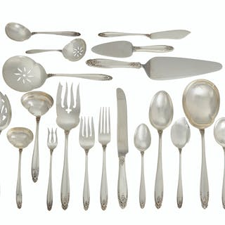 "An International Silver Co. ""Prelude"" sterling silver flatware service"