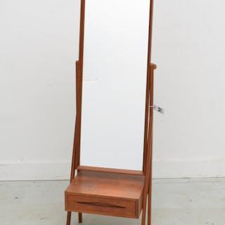 Arne Vodder teak cheval dressing mirror