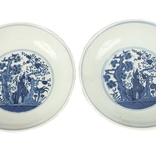 PR CHINESE BLUE & WHITE PORCELAIN BOWLS