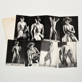 8 Bruce Bellas Nude Male Physique Photos & 6 Negatives - Bruce Bellas
