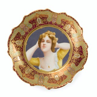 "A Royal Vienna-style ""Coquette"" plate"