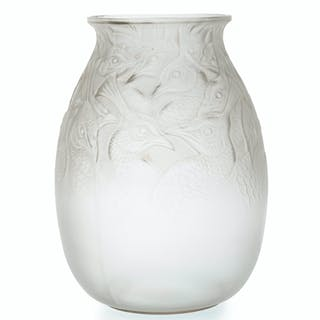 "A René Lalique ""Borromee"" art glass vase"
