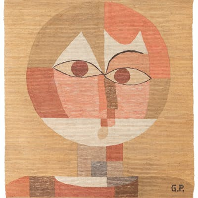 A cubist wall tapestry