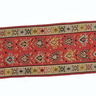 Bessarabian hand-woven Kilim carpet