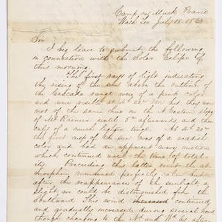 ASTRONOMER / NAVAL OFFICER JAMES MELVILLE GILLISS (1811-1865), WASHINGTON