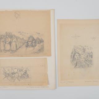 Zakhar Efimovich Pichugin (Attrib.), (3) sketches