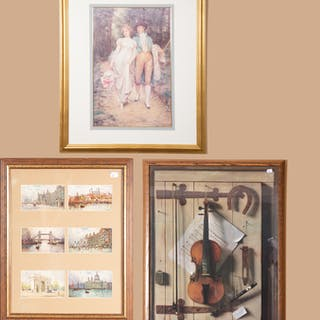 Three Pieces of Framed Artwork