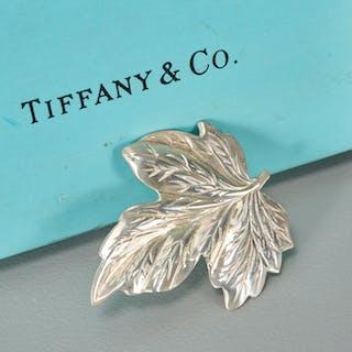 Tiffany & Co. sterling leaf form brooch