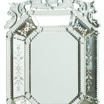 A Venetian wall mirror