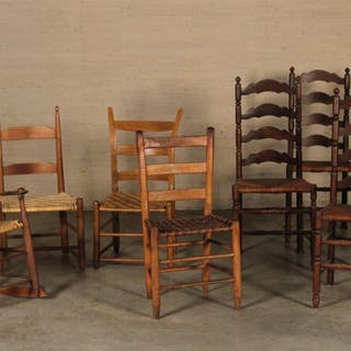 COLLECTION OF 8 AMERICAN CHAIRS
