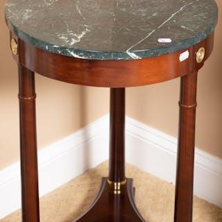 Empire Style Mahogany Marble-Top Table