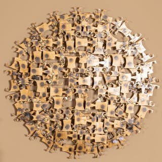 Jere Freres. Modern Metal Wall Sculpture