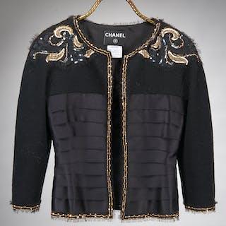 Chanel black evening wear jacket