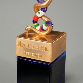 Niki de Saint Phalle snake design perfume bottle