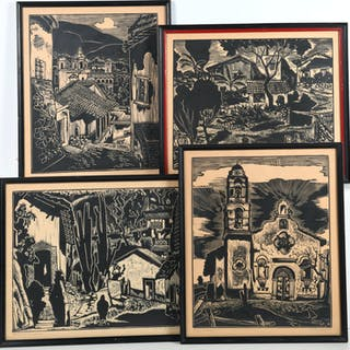 Carl Pappe, group (4) woodcuts
