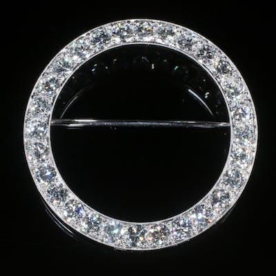 PLATINUM & DIAMOND CIRCLE BROOCH