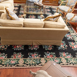 Chinese Floral Needlepoint Rug