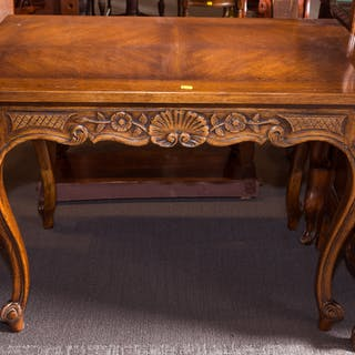 French Provincial Oak Center Table