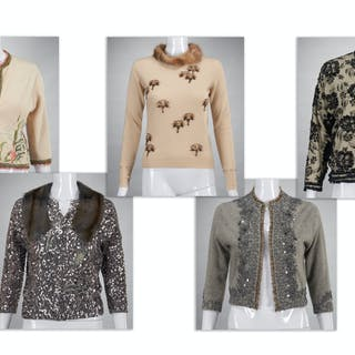 Group Cynthia Rose embellished cashmere sweaters