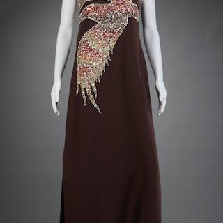 James Galanos embellished evening gown