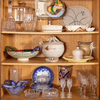 Assortment of Ceramic and Glass Tableware