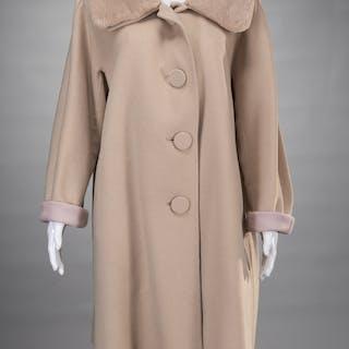 Lafayette 148 ladies sand cashmere wool coat