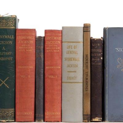 CIVIL WAR CONFEDERATE STONEWALL JACKSON VOLUMES, LOT OF TEN