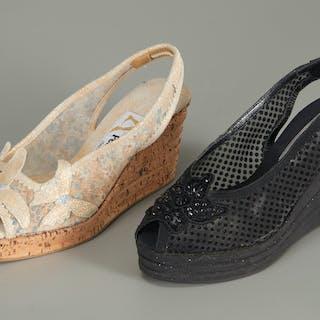 (2) pairs of Fernando Pensato wedges