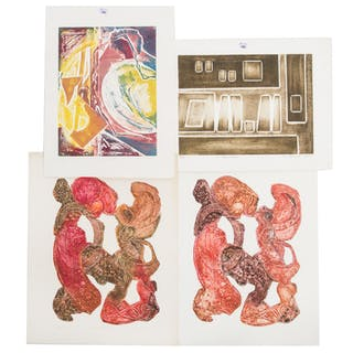 Ina Helrich. Four Color Embossed Aquatints