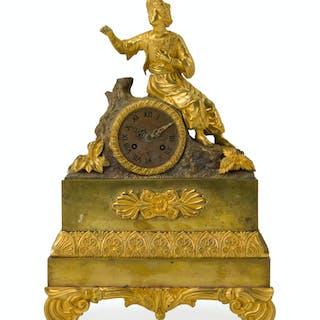 An ormolu Orientalist figural clock