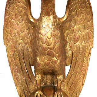 Gilt Carved European Style Eagle Statue Current Sales Barnebyscom