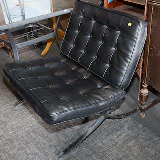 """Mid-Century Modern Chrome """"Barcelona"""" Chair"""