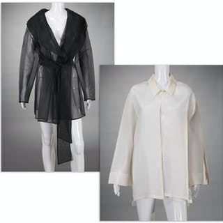 (2) Carmen Marc Valvo evening jackets