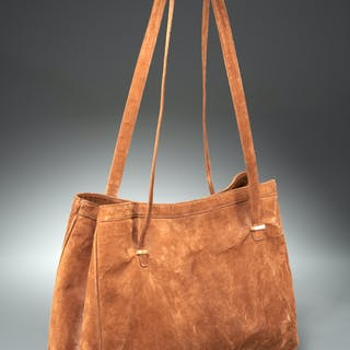 Vintage Valentino brown suede tote bag