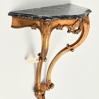 Italian Rococo style giltwood wall mount console