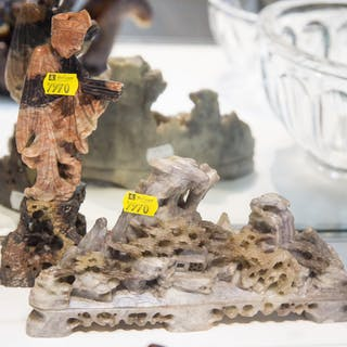 Four Chinese Carved Soapstone Items