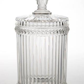 THREE FACE / DUNCAN NO. 400 (OMN) COVERED CRACKER JAR