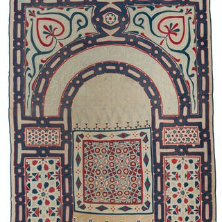 An Art Deco Egyptian Revival wall hanging